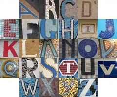 Tile and mosaic letters