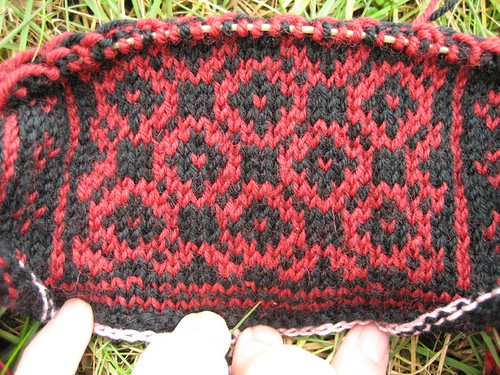 Norwegian hat - in progress