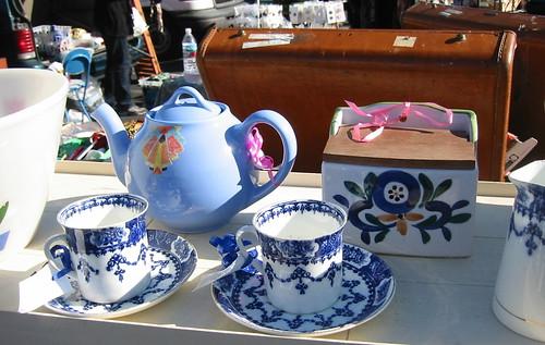 Rose Bowl flea market in Pasadena--blue willow