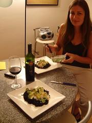 finalmente (ellamiranda) Tags: comida cocinando comilona spagueti ellamiranda espaguetinerodisepia cumplemau