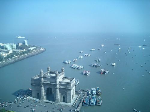 Vista aérea de la Entrada de India