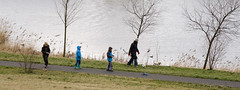 On the move (Bart van Dijk (...)) Tags: urban dog amsterdam walking zeeburg oost playingkids spelendekinderen