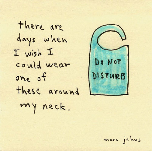 Do not disturb sign / Marc Johns