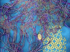 What ? (Nicky Perryman) Tags: original thread stitch handmade embroidery originalart felt textile stitching textiles freemotionembroidery textileart nickyperryman fme