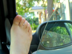 In the car 04 (Baciliforme) Tags: feet car foot toes barefeet dashboard