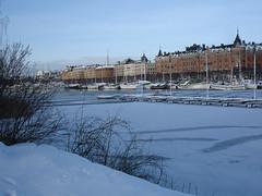Strandvgen from the other side (My little camera2005) Tags: winter snow ice sweden stockholm strandvgen
