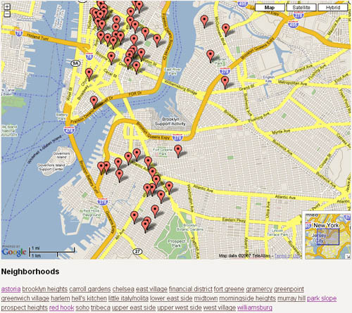 Brooklyn Indie Coffee Map