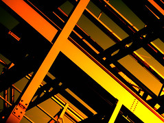 Metal office structure in Edinburgh - fierce PS Sunset (Semi-detached) Tags: sunset lines metal scotland edinburgh steel structure beam scaffold diff peopleschoice aplusphoto flickrjobdiff flickrjob
