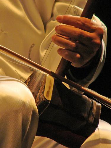 Wu Wei jouant de l'erhu