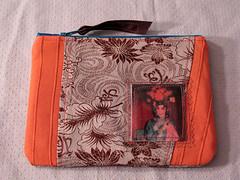 chinese opera (baking with medusa) Tags: pink vintage diy blog opera handmade wallet metallic sewing chinese retro pouch zippy handbags etsy recycle brocade ironons bakingwithmedusa