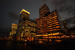 London Canary Wharf by night