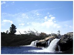 Saltillo (Alekid) Tags: rio azul agua bosque cielo saltillo espuma cascada