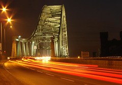 Runcorn bridge at night (Mr Grimesdale) Tags: bridge light night traffic runcorn widnes nighttraffic halton capitalofculture lightstream runcornbridge mrgrimsdale stevewallace capitalofculture2008 liverpoolcapitalofculture2008 challengeyouwinner europeancapitalofculture2008 widnesbridge 15challengeswinner photofaceoffwinner liverpoolcapitalofculture pfogold mrgrimesdale grimesdale