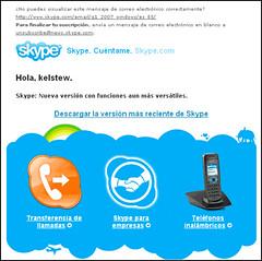 Skype Spanish Email