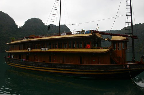 The junk that showed me incredible Halong Bay...