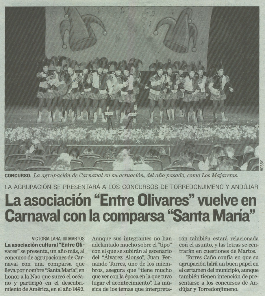 Santa María en el diario Jaén