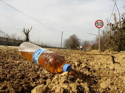 Bottle full of urine (near Akcakoca, Black Sea coast of Turkey)
