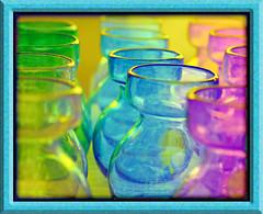 technicolor gold (jaki good miller) Tags: color art glass colorful transparency jakigood technicolor vases flowerpots artset colorphotoaward goldenphotographer hueparty