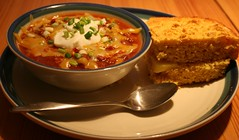 Chili Dianne Style With Cornbread