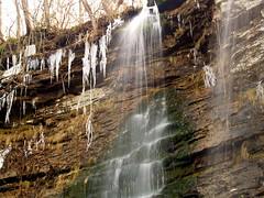 Triple Falls and icicle falls
