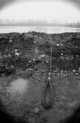 found (jc_iverson (Imagery by Jordan)) Tags: lake postprocessed canon rope desolate fauxvintage canon30d canonefs1855mmf3556 123bw