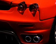 Ferrari F430 Exhaust (DOS82) Tags: longexposure red macro rot art colors up digital canon catchycolors germany geotagged fun deutschland eos rebel idea kiss raw close 4 tripod x sharp bikini remote gps dslr dpt dpp idee rlp lense nahlinse rheinlandpfalz fernbedienung rawshooter stativ canonraw cr2 sddeutschland southgermany rhinelandpalatinate xti selbstgebaut digitalphotoprofessional 400d canoneosdigitalrebelxti canoneos400ddigital dos82 hamastar75 auslsekabel xrawcr2dppdslrdos82catchy gpsdatalogger dominiksteinmetzler