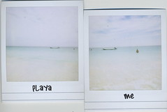 Playa Me (Arc-light) Tags: blue beach me mexico polaroid tulum playa distant