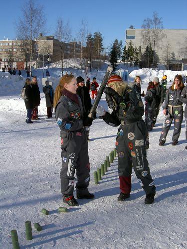 Mölkky en invierno