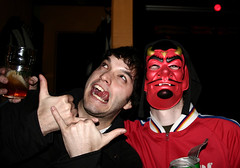Devil juse (Marzellius) Tags: party fun mask drinking pepole