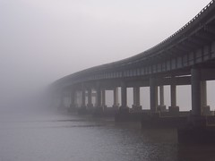 Interstate 430 Does a Disappearing Act (dsimmons2006) Tags: county bridge rock fog little littlerock central arkansas interstate 500views thick act 430 pulaski disappearing pulaskicounty centralarkansas interstate430