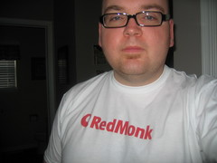 Me posing in my new Redmonk shirt