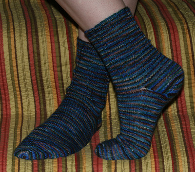 Hokusai Ribbed Socks