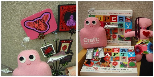 Pink Craftie at the Super Crafty valentine-making party