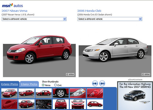 2007 Honda Fit vs 2007 Nissan Versa vs.