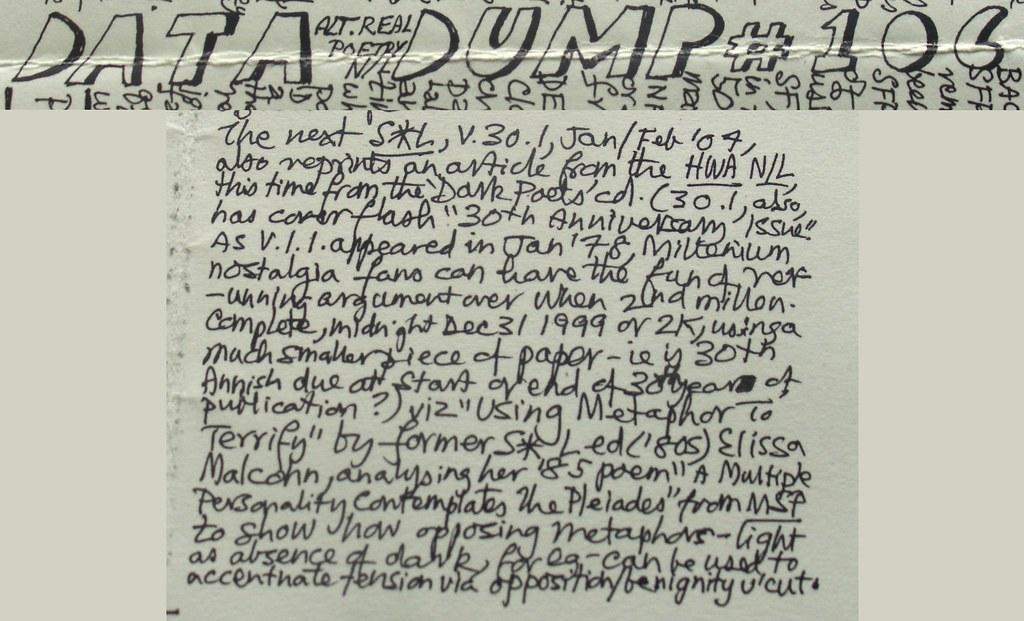 Data Dump #106