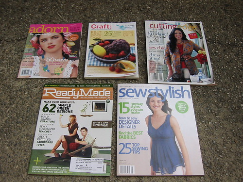 Five of my favorite crafty magazines