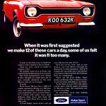 Ford Escort Mk1 Mexico retro car advert