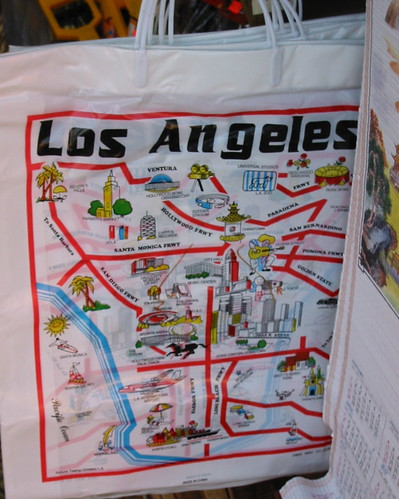 Los Angeles shopping bag in Chinatown