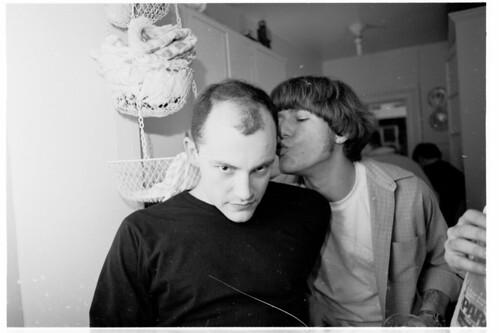 Jeff (Odd Haircut) kisses Rob