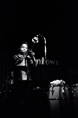 Dizzy Gillespie on stage (Tom Marcello) Tags: musicians photography trumpet jazz bebop jazzmusic dizzygillespie jazzmusicians livejazz jazzplayers jazzphotos jazzphotography jazzphotographs tommarcello