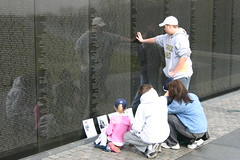 Vietnam Veterans Memorial (Ironworker63) Tags: family friends reflection architecture landscape soldier washingtondc dc washington memorial brothers sister 63 vietnam thewall veterans attractions vietnamveteransmemorial ironworker panel14w panel16w panel15w panel13w objectsleftatthewall