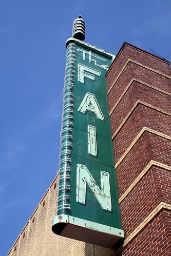 close fain sign from left in sun