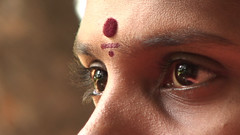tilak (bohemyan) Tags: woman india closeup eyes inde tilak maheshwari fiftymillionmissingwomen