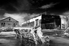 no one sits here anymore (Ben McLeod) Tags: decay newhampshire couch infrared 1755mmf28g blogged concord fauxinfrared nhphototour concordindustrialpark