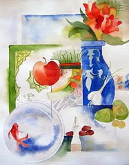 watercolor Haftsin . . . Happy Norouz (my paintings) Tags: new persian iran year persia newyear iranian haftsin norouz nowrooz aliehs alieh