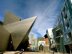 The Denver Art Museum (Ishrona) Tags: blue light sky art lines museum architecture composition buildings colorado denverartmuseum denver ishrona liberskind doorsopendenver
