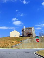 on top of the world (1) (BoringPostcards) Tags: atlanta house home georgia developer suburb sprawl neighbors neighbor conformity mcmansion subdivision