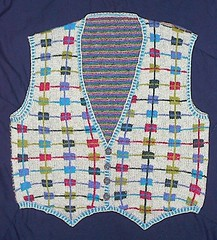 The Intarsia Vest that is So Fabulous (Ennirol) Tags: knitting knit vest knitted intarsia silkywool colorwork knittedvest ravelry