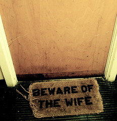 beware of the wife (chutney bannister) Tags: door london square beware 100v10f wife doormat londonist