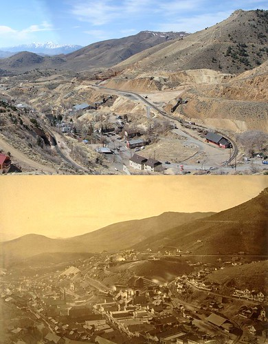 Gold Hill, Nevada Then & Now